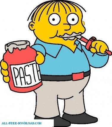 free vector Ralph Wiggum 01 The Simpsons