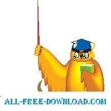 free vector Owl Teacher