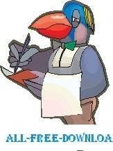 free vector Robin Waiter