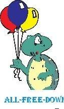 free vector Turtle with Balloons