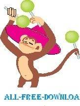 free vector Monkey with Maracas