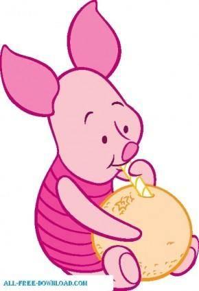 free vector Winnie the Pooh Piglet 024