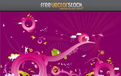 free vector Purple Madness