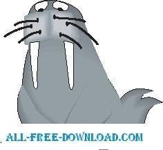 free vector Walrus 4