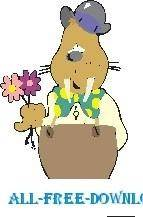 Walrus with Flowers