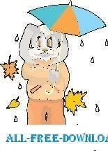 free vector Rabbit with Umbrella