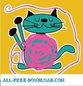 free vector Cute cat