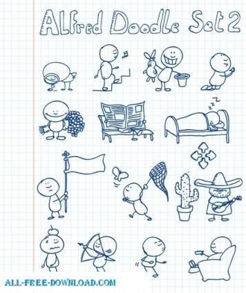 Alfred Doodle Set 2