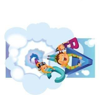 free vector Flying Child