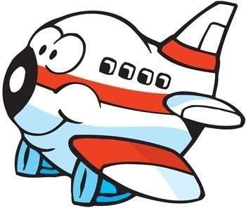 free vector Cartoon Commercial Flight