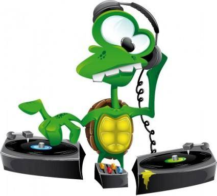 free vector Turtle DJ