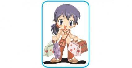 free vector Shopping vector animation clip art