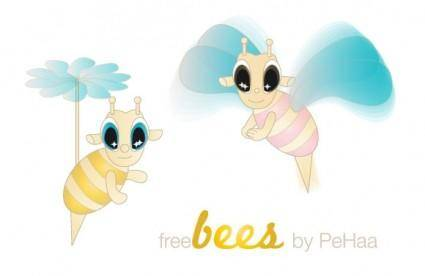 free vector Free Bees – Vector Characters