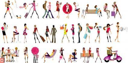 free vector Vector Glamour Girls