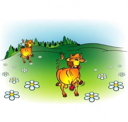 free vector Cow