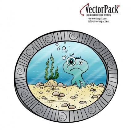 free vector Octopus Viewed from Submarine