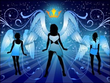 free vector Night Angels