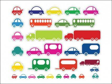 free vector Toy Cars and Bus