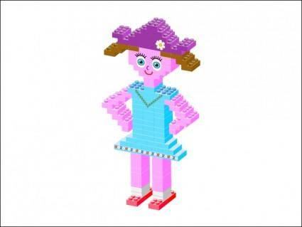 free vector Plastic Brick Girl