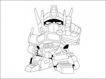 free vector Baby Optimus Prime