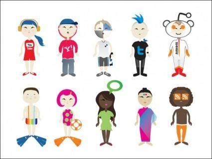 free vector Social Vector Kids