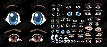 Accommodates a lovely cartoon eyes vector material