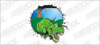free vector Dinosaur vector material