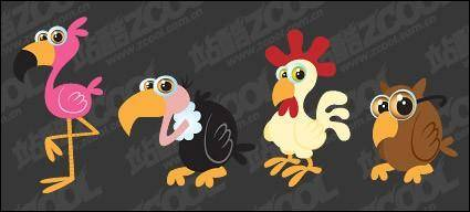 free vector Cartoon bird vector material
