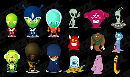 free vector Alien material