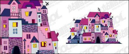 free vector Vector illustration house material