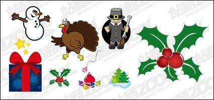free vector Christmas icon with the vector illustration material
