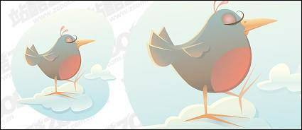 free vector Cartoon bird
