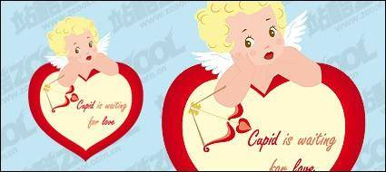 Cupid's lovely Venus icon vector material