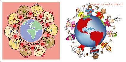 Hand in hand around the earth's rotation vector material