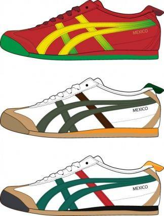 Vector trend of sports shoes