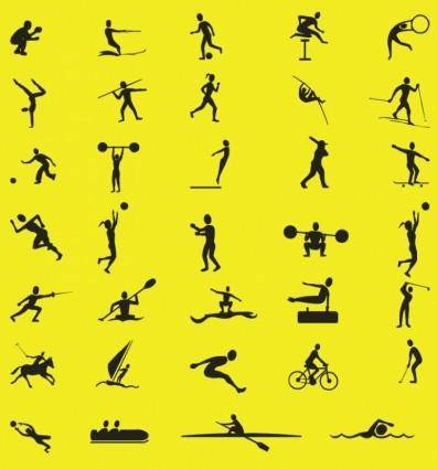 free vector Free Vector Sport Silhouettes Collection