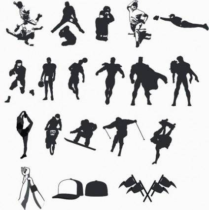 free vector High Quality Sport and Hero Silhouettes Collection  Vector