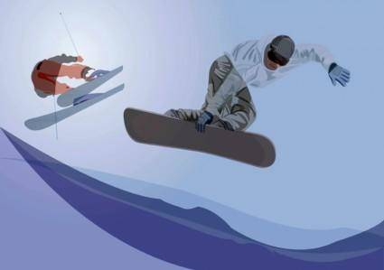 free vector Winter Sports Graphics