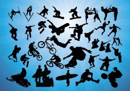 free vector Action Sports Vectors