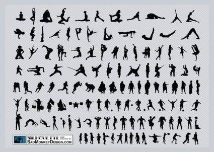 free vector Sports Silhouettes