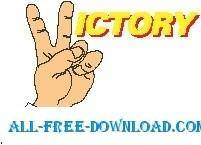 free vector VICTORY