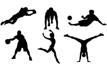 free vector 9 FREE SPORTS VECTOR SILHOUETTES