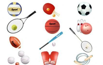 free vector Free sports vector equipment