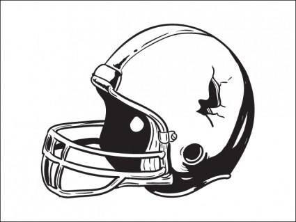 free vector Football Helmet