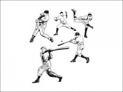 free vector Baseball Players