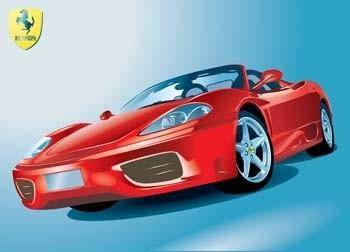 free vector Ferrari Sport Cart