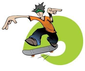 Skateboarding vector 3