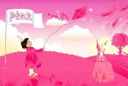 free vector Pink World