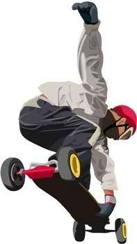 Skateboarding vector 1