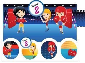 Boxing sport vector 4